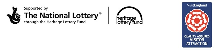 Heritage lottery fund and Visit England logos
