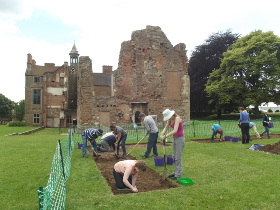 Excavations at Rufford Abbey July 2014