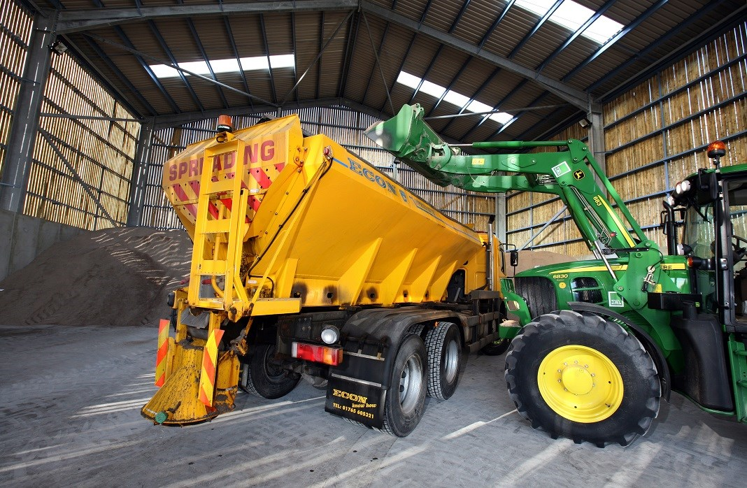 Gritters out over a snowy weekend
