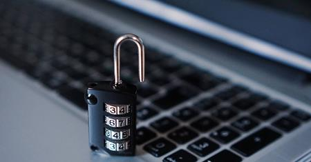 Padlock on keyboard