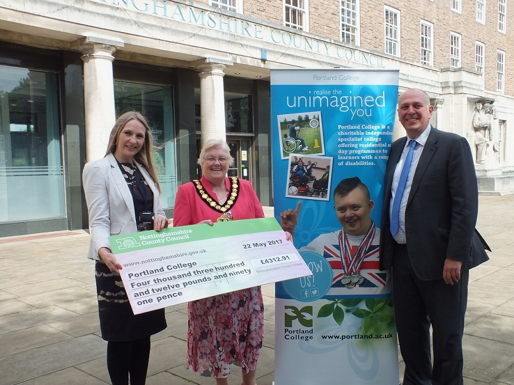 Chairman's £4.3k charity cheque puts Portland students on the road