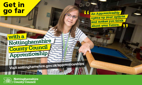 Get in go far with a Nottinghamshire County Council apprenticeship
