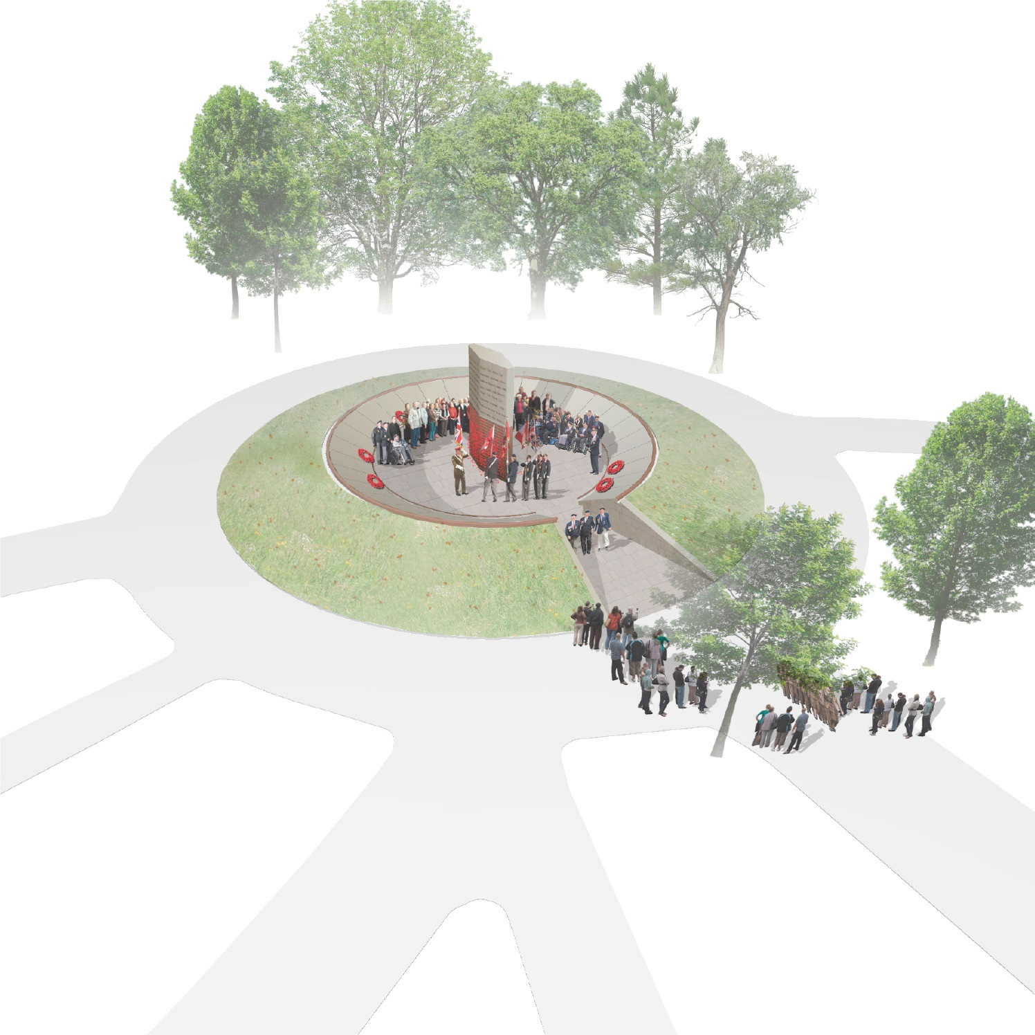 Artist's impression of the new memorial