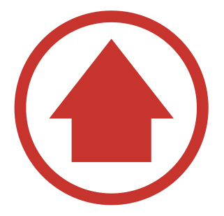 Red arrow in a red circle