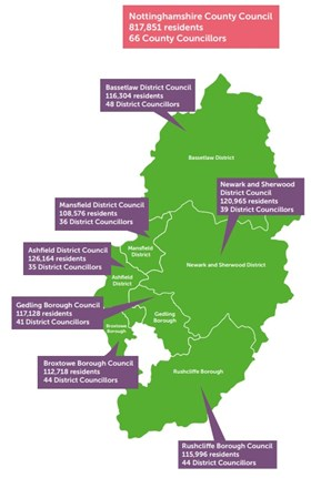 Map Of Uk Councils.Give Your Views On Possible Changes To Notts Councils Up To 31
