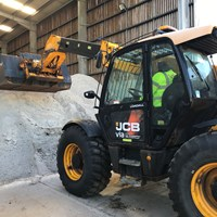 Loading up the gritting lorries at Gamston Highways Depot
