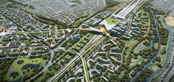 The planned site at Toton (CGI)