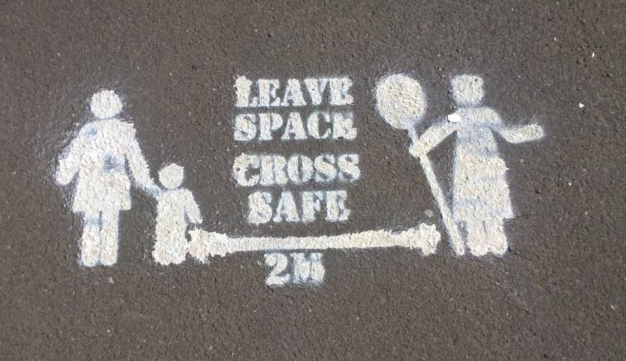 Leave space cross safe