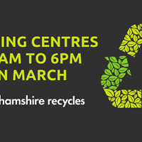 March opening hours for Notts Recycling Centre's