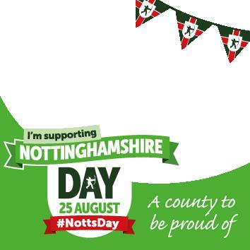 Nottinghamshire Day Facebook profile frame